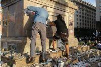 Atacan el memorial por las víctimas del Covid-19 durante la marcha del Día de la Lealtad Peronista