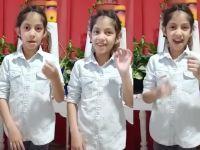 Gran iniciativa para cantarle el feliz cumple en lenguaje de señas  a Aixa, la nena sorda del colegio N° 349